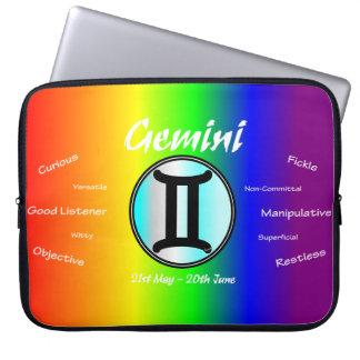 Sharnia Gemini Laptop Sleeve (Rainbow)