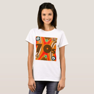 Sharnia's '70s Coloured Background' T-Shirt