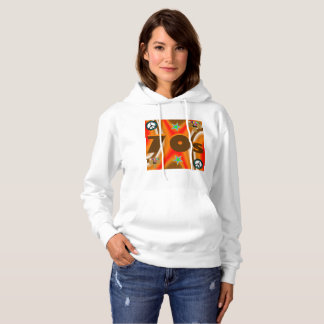 Sharnia's '70s Coloured BG' Hooded Sweatshirt