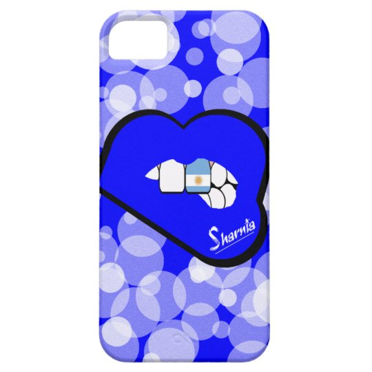 Sharnia's Lips Argentina Mobile Phone Case Blu Lp