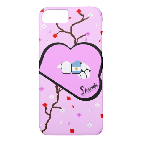 Sharnia's Lips Argentina Mobile Phone Case Lp Lip
