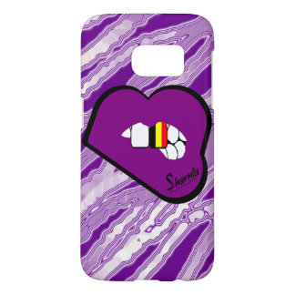 Sharnia's Lips Belgium Mobile Phone Case (Pu Lips)