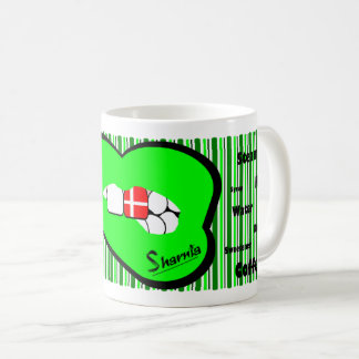 Sharnia's Lips Denmark Mug (GREEN Lip)