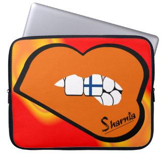 Sharnia's Lips Finland Laptop Sleeve (Orange Lips)