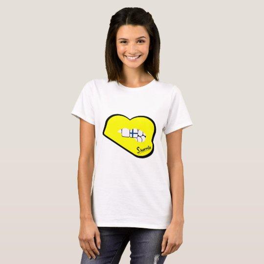 Sharnia's Lips Finland T-Shirt (Yellow Lips)