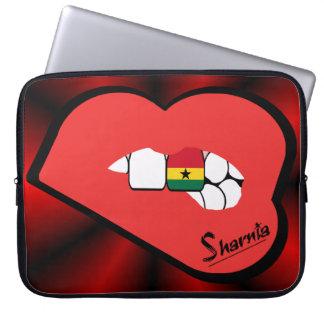 Sharnia's Lips Ghana Laptop Sleeve (Red Lips)