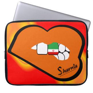 Sharnia's Lips Iran Laptop Sleeve (Orange Lips)