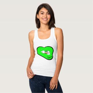 Sharnia's Lips Iran Vest (Green Lips) Tank Top