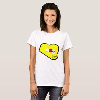 Sharnia's Lips Latvia T-Shirt (Yellow Lips)