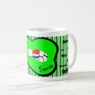 Sharnia's Lips Netherlands Mug (GREEN Lip)