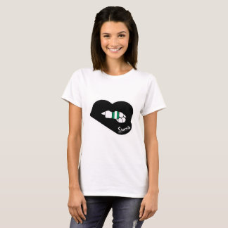 Sharnia's Lips Nigeria T-Shirt (Black Lips)