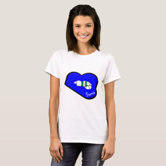Sharnia's Lips Nigeria T-Shirt (Blue Lips)