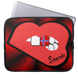 Sharnia's Lips Norway Laptop Sleeve (Red Lips)