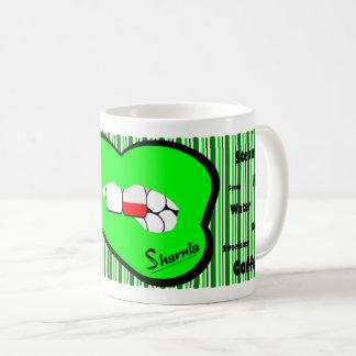 Sharnia's Lips Poland Mug (GREEN Lip)
