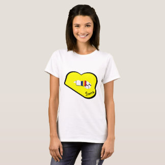 Sharnia's Lips Romania T-Shirt (Yellow Lips)