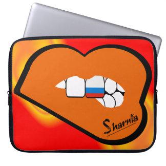Sharnia's Lips Russia Laptop Sleeve (Orange Lips)