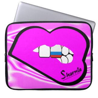 Sharnia's Lips Russia Laptop Sleeve (Pink Lips)
