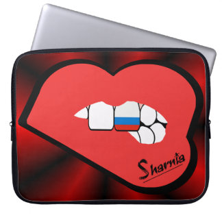 Sharnia's Lips Russia Laptop Sleeve (Red Lips)