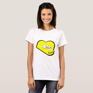 Sharnia's Lips South Korea T-Shirt (Yellow Lips)