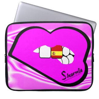Sharnia's Lips Spain Laptop Sleeve (Pink Lips)