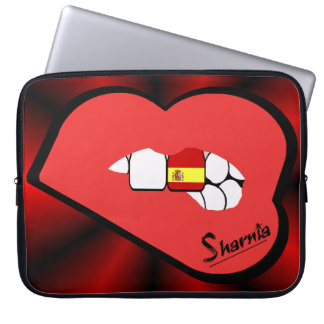 Sharnia's Lips Spain Laptop Sleeve (Red Lips)