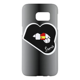 Sharnia's Lips Spain Mobile Phone Case Blk Lp