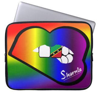 Sharnia's Lips St Kitts Laptop Sleeve Rainbow Lips