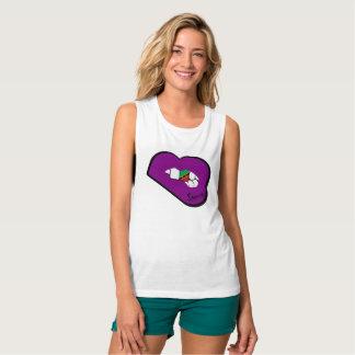 Sharnia's Lips St Kitts Vest (Purple Lips) Tank Top