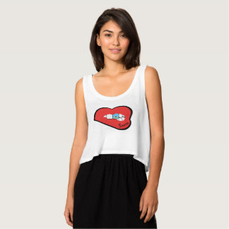Sharnia's Lips St Lucia Top (Red Lips)