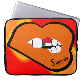 Sharnia's Lips Sudan Laptop Sleeve (Orange Lips)