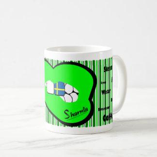 Sharnia's Lips Sweden Mug (GREEN Lip)