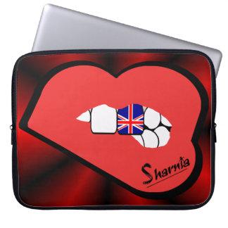 Sharnia's Lips UK Laptop Sleeve (Red Lips)
