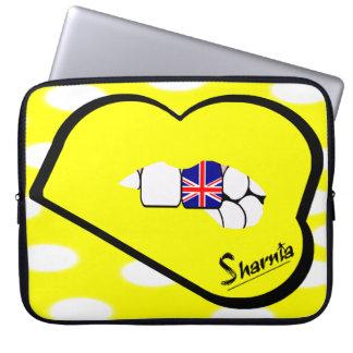 Sharnia's Lips UK Laptop Sleeve (Yell Lips)