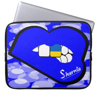 "Sharnia's Lips Ukraine Laptop Sleeve 15"" Blue Lips"