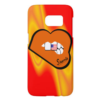 Sharnia's Lips USA Mobile Phone Case (Or Lips)