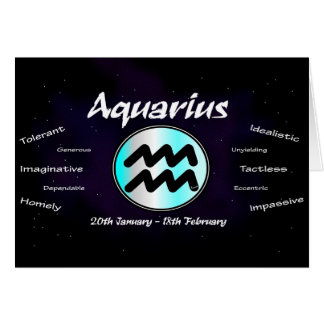 Sharnia's Aquarius Greeting Card