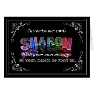 Sharon -  Name in Lights greeting card (Photo)
