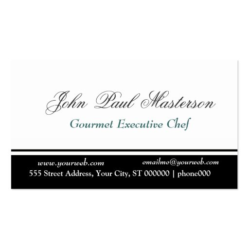 Sharp Black and White Design Pack Of Standard Business Cards