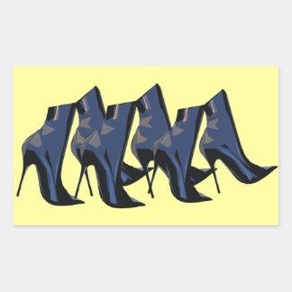 Sharp Boots blue Ankle Boot Art Sticker