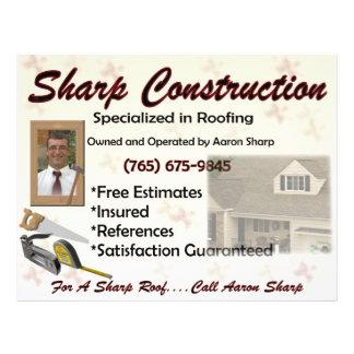 Sharp Construction 21.5 Cm X 28 Cm Flyer