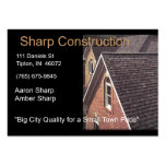 Sharp Construction - Brown and Black Business Card Templates