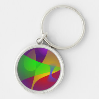 Sharp Contrast Vivid Color Abstract Keychains