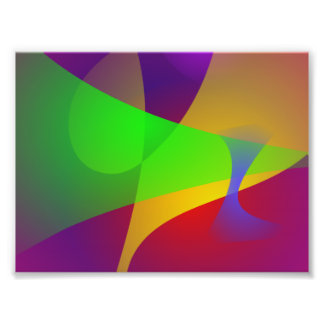 Sharp Contrast Vivid Color Abstract Photo Print