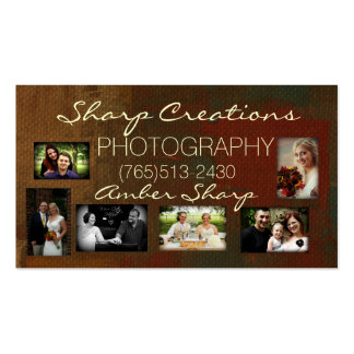 Sharp Creations Photography 2014 Business Card Templates