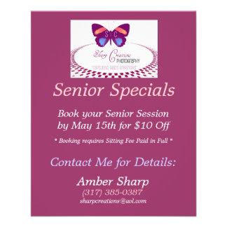 Sharp Creations Senior Specials Flyer Design