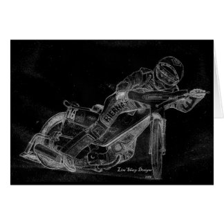 sharp designs. speedway bikeonblack card