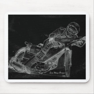 sharp designs. speedway bikeonblack mouse mat