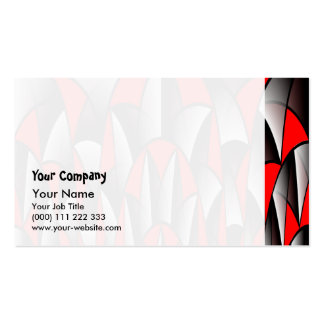 Sharp edges pack of standard business cards