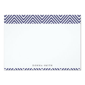 Sharp Navy Chevron Flat Note Cards 11 Cm X 16 Cm Invitation Card
