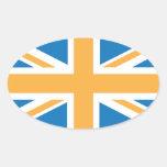 Sharpe Blue Orange Union Jack British(UK) Flag